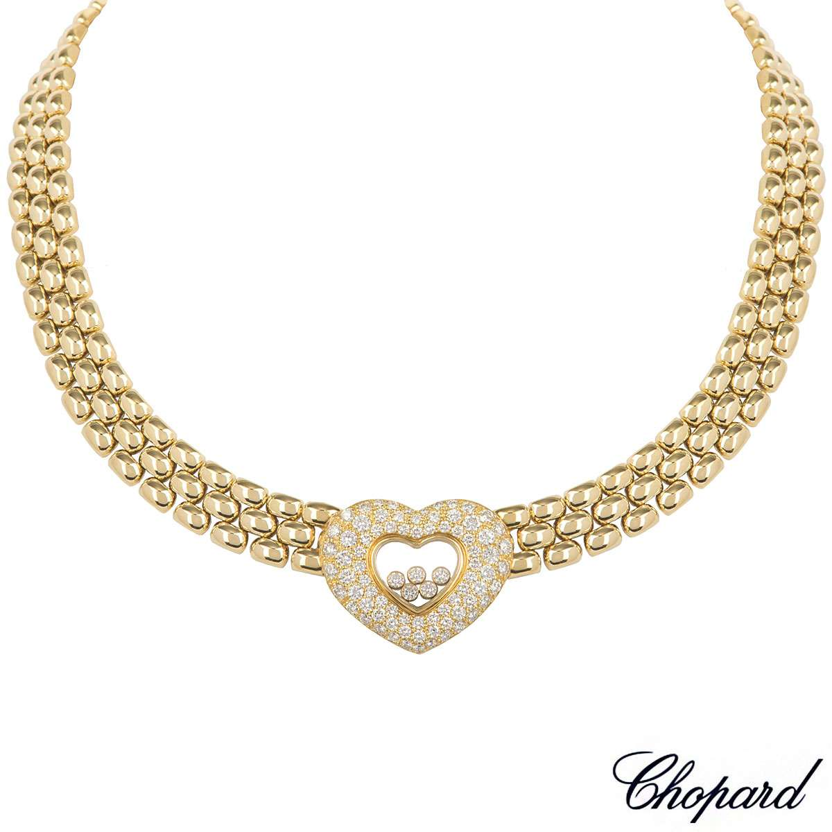 Chopard Yellow Gold Happy Diamonds Necklace 81/5427-20